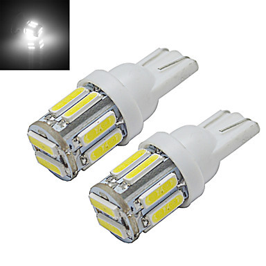 20pcs /Pack T10 10-SMD 7014 White Light Car LED Dome Lamp Clearance Turn Signal Parking Lamp License Plate Light(China (Mainland))