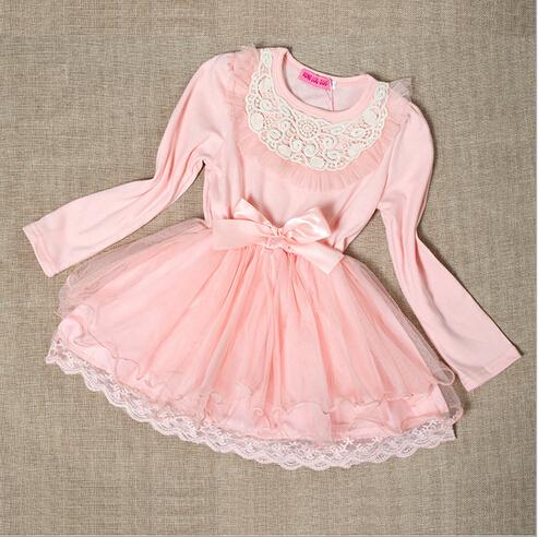 2016 High style  summer     princess cotton   Girls dress   Kids High Quality  long sleeve  butterfly  Dress ready<br><br>Aliexpress