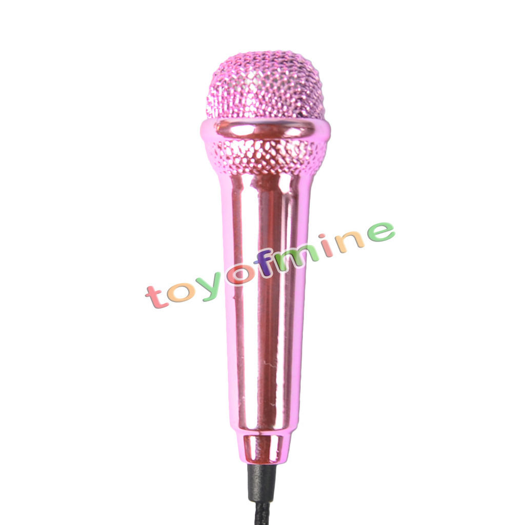3.5mm Wired Clip On Mini Lapel Mini Headset Microphone For Phone&Laptop Sing Song Karaoke Microphone Pink free shipping(China (Mainland))