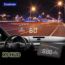 """X5 3 """"Universal Auto Auto HUD Head Up Display X3 Überdrehzahl Warnung Windschutzscheibe Projekt Alarm System Verbrauch obd2 II Schnittstelle(China (Mainland))"""