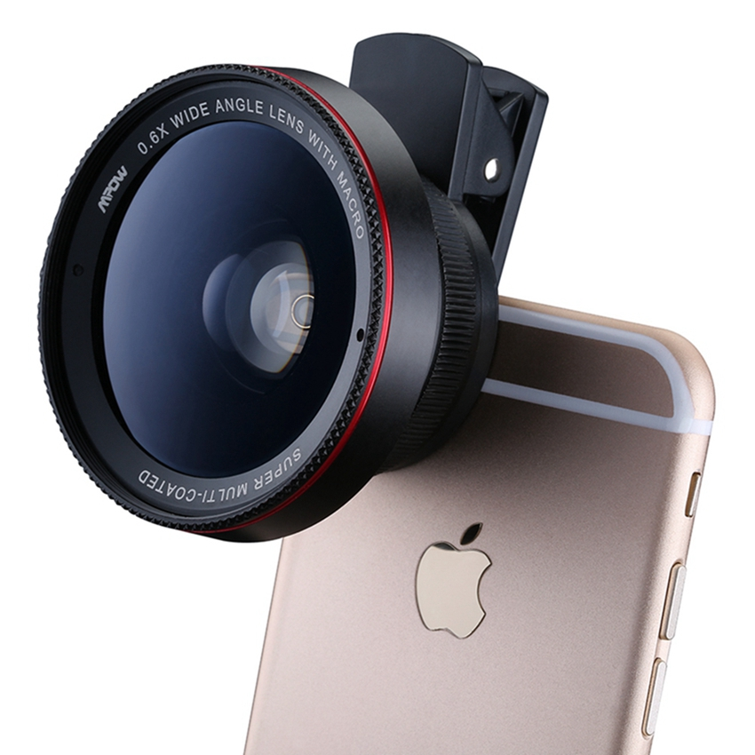 Mpow MFE6 2 in 1 Clip-On 0.6X Professional Wide Angle High Definition Lens with 37mm Thread 10X Macro Lens for Phone and Cameras(China (Mainland))