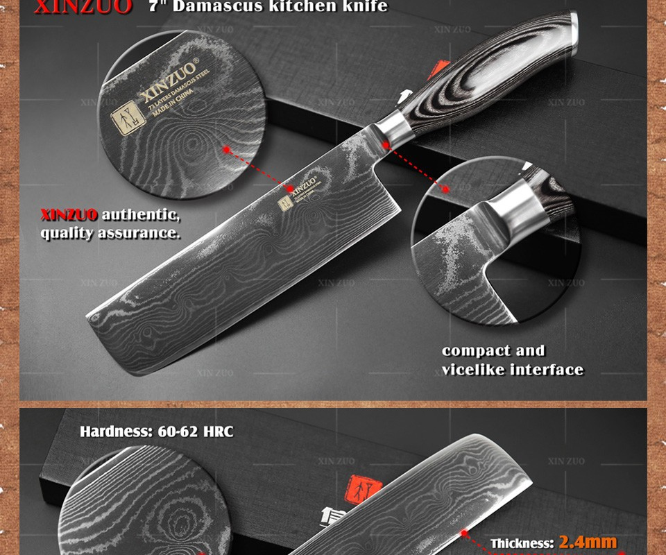 Buy HOT 7 inch kitchen knives 73 layers Japanese VG10 Damascus steel chef knife Japanese woman chef knife wood handle free shipping cheap