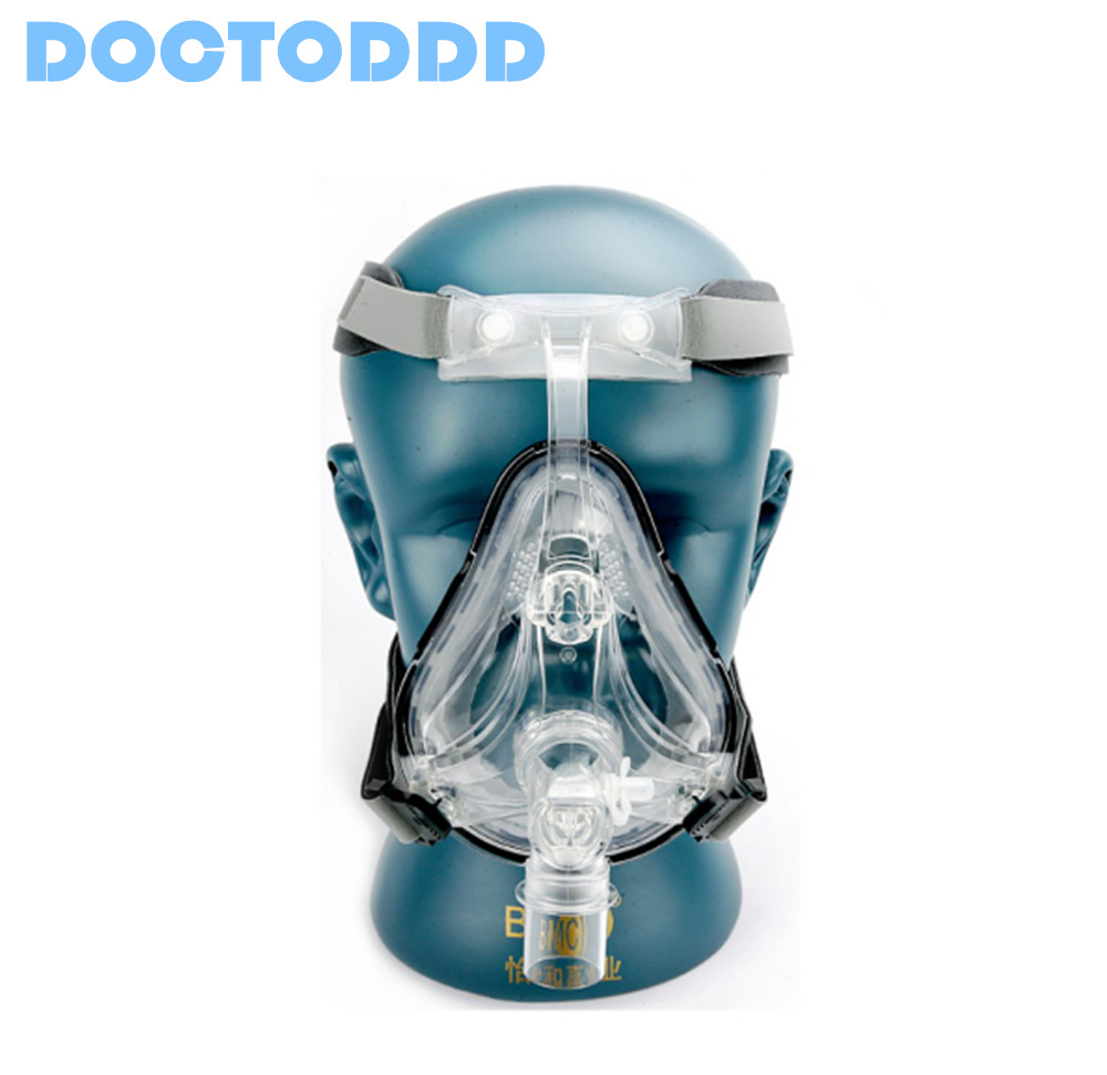 Doctodd FM1 Full Face Mask CPAP Auto CPAP BiPAP Mask With Free Headgear White S M L for Sleep Apnea OSAHS OSAS Snoring People(China (Mainland))