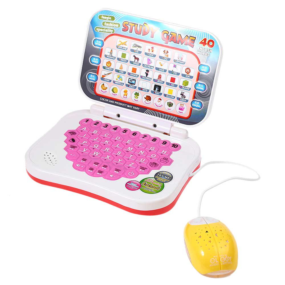 Educational Learning Machine Computer Laptop Game Toy Baby Children Electronic Notebook Kids Study Musical Sing Spell(China (Mainland))