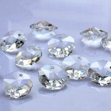 Восьмиугольник бусины кристалла для люстры и также украшения дома украшения гостиницы фэн-шуй бусины лучший выбор 100