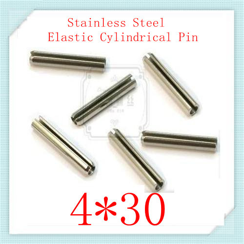 High Quality  4*30 Stainless  Steel 304 Elastic Cylindrical Spring  Split  Pin 100pcs/lot<br><br>Aliexpress