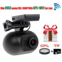 Original Mini 0903/nanoq 1080p HD Wifi 7G NT96655 IMX322 GPS Car DVR GPS Dash Camera+CPL Filter+32GB Card(China (Mainland))