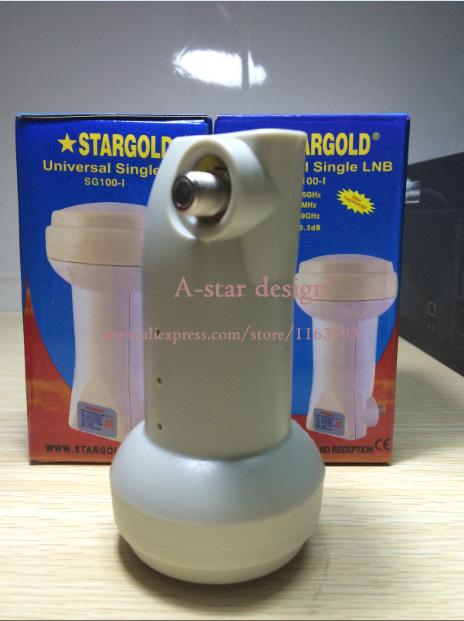 free shipping StarGold waterproof Best Signal digital HD Universal KU Band Single LNB satellite Dish lnb High Gain 0.1 dB noise(China (Mainland))