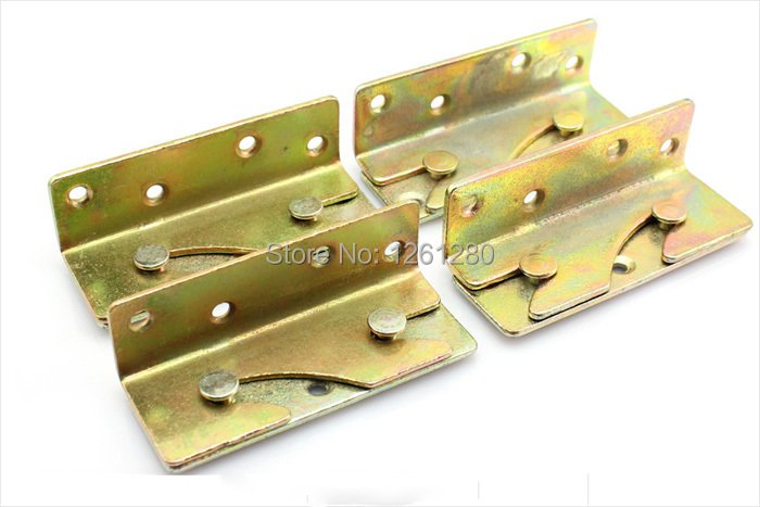 free shipping furniture hinge Thickened Cold Rolled Steel bed fitting invisible bed hinge furniture hardware bed parts household(China (Mainland))