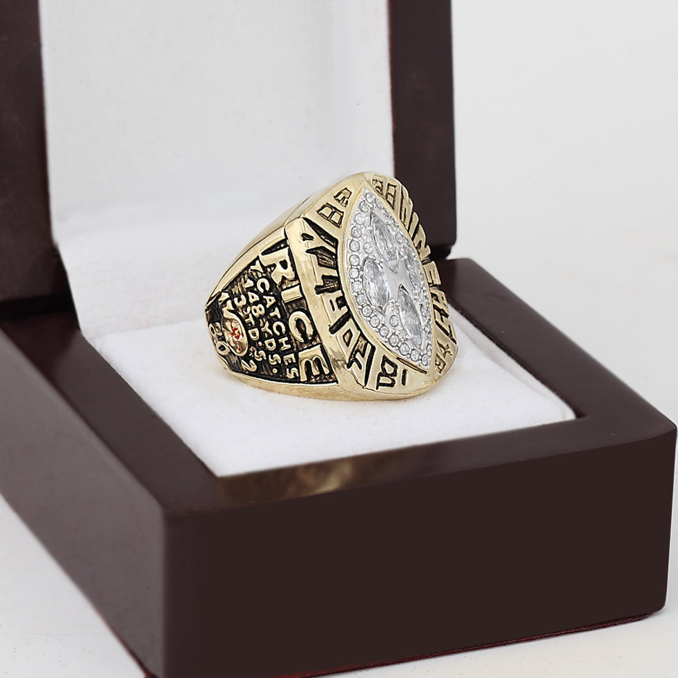1989 San Francisco 49ers Super Bowl Football Championship Ring With High Quality Wooden Box Fans Best Gift Size 10-13(China (Mainland))