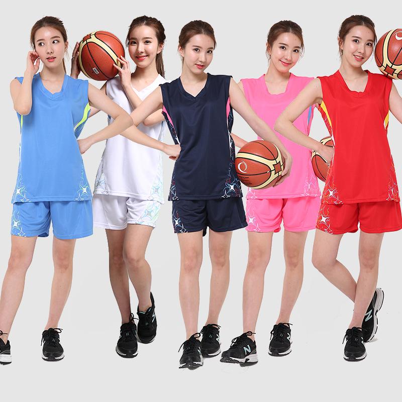 2016 New Women's Basketball Suit Sweat Ventilation Jerseys Shorts Team Sports Vest Customized(China (Mainland))