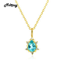 MoBuy MBNI023 Special Звезда Природных Драгоценных Камней Апатит Ожерелье и Кулон 925 Стерлингового Серебра 14 К Желтый Позолоченные Изящных Ювелирных Изделий(China (Mainland))