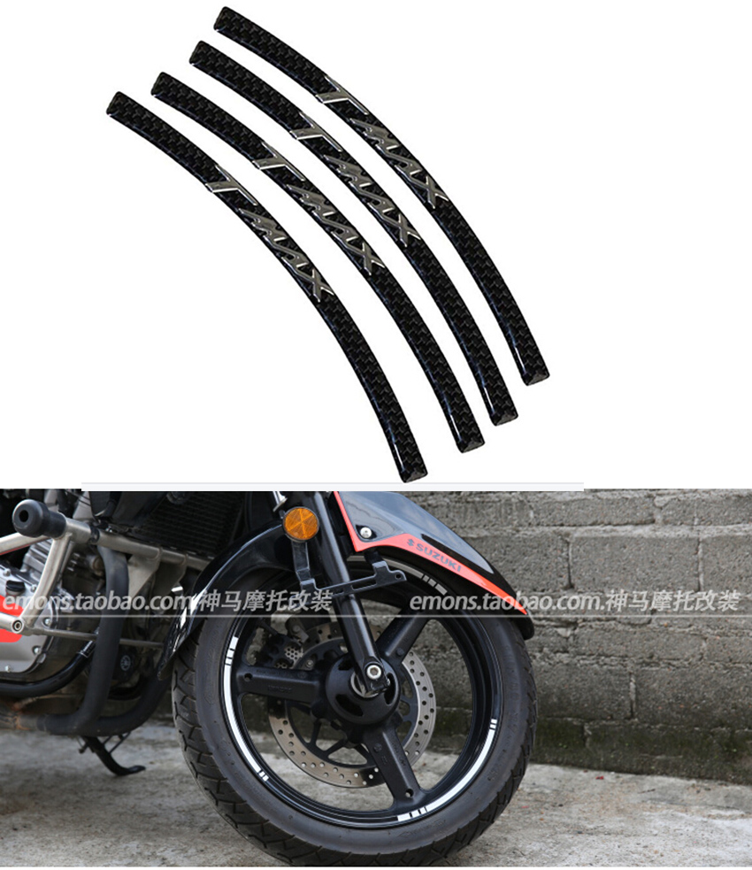 Motorcycles and scooters Tire rim reflective tape sticker tape for Yamaha TMAX t - max tuning racing sticker(China (Mainland))
