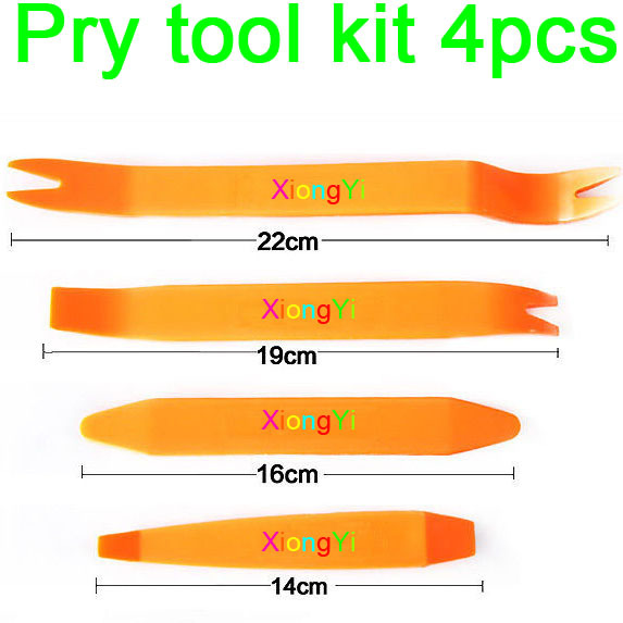 4PCS Kit Practical Auto Car Radio Install Panel Plastic Trim Removal Tool Set Prying tools(China (Mainland))