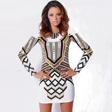 dress 2016 women dress new European fashion summer dress sexy slim long sleeve vestidos plus size