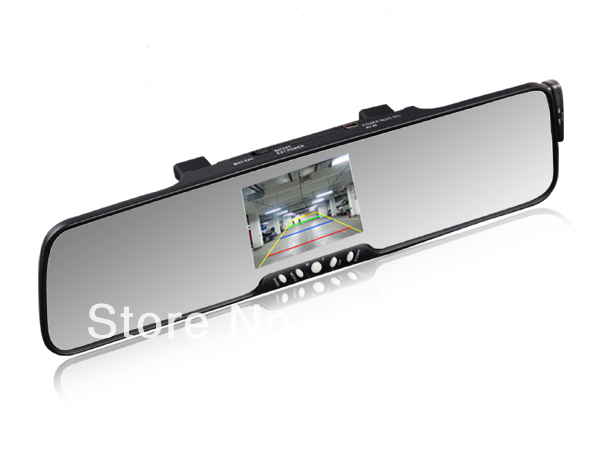 Hot! High quality 3.5TFT Bluetooth Rearview Mirror with Back up camera system