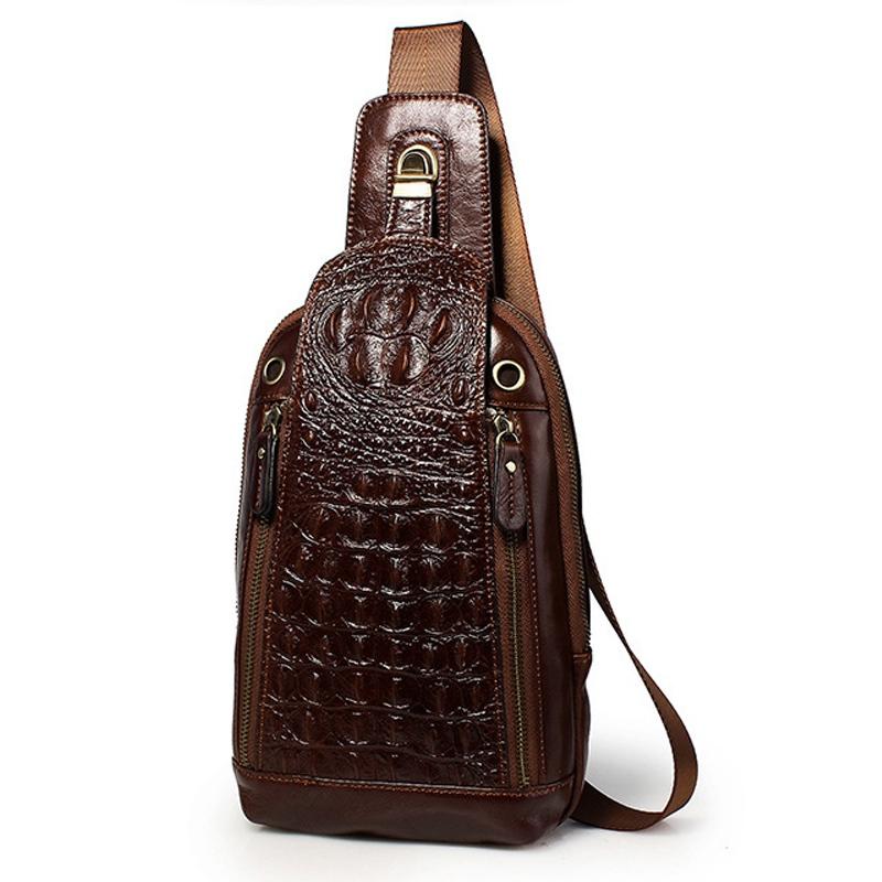 Best Selling Genuine Leather Chest Bag Men Messenger Bags Travel Hiking Riding Shoulder Crossbody Bag Sling Chest Pack<br><br>Aliexpress