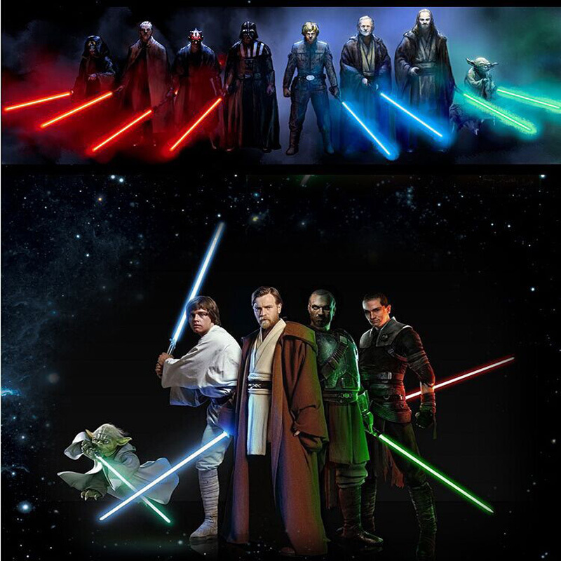 66CM Long Star Wars Lightsaber Weapons Cosplay Sword with five luminous colors & Sounds PVC Action Figure Toys for kids Gift(China (Mainland))