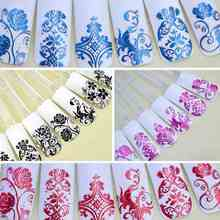 5Pack(1Pack=108PCS)108 Flowers 3D Nail Art Stickers Decals For Nail Tips Decoration Tool Fingernails Decorative White/Red/Black