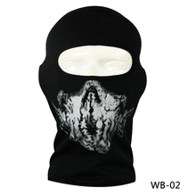 New Hot Sale Ghost Skull Mask Bandana Tactical CS Wargame Airsoft Training Windproof Breathable Mesh Fabric