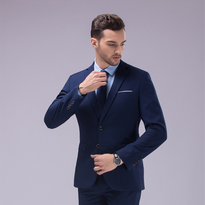 Jacket + pants men\'s suits business casual contracted joker ...