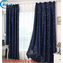 ( Single Panel ) Modern Hooking Blackout Children Curtains Star Window Curtain Decoration Draperies Living Room Bedroom Cortina(China (Mainland))