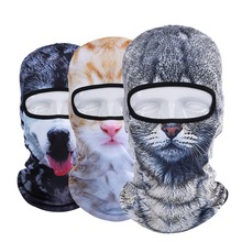 New 3D Animal Cat Dog Outdoor Bicycle Bike Cycling Motorcycle Sports Ski Hats Balaclava Party Halloween Protect Full Face Masks(China (Mainland))