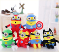 6Pcs lot Minions 3D Eyes Movie TV Despicable Me Superhero Spiderman Superman Batman Captain America Ironman