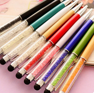 Free Shipping New Promotion Gift Cute diamond Crystal ballpoint Pen Kawaii Touch Screen Ball pen for Ipad Iphone Wholesale 1pc(China (Mainland))