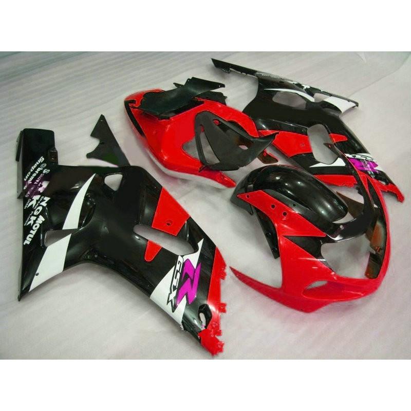 Dor-Motobike set fit for A GSXR600 GSXR750 K1 2001 2002 2003 red white black fairings GSXR 600 750 01-03 fairing kit(China (Mainland))