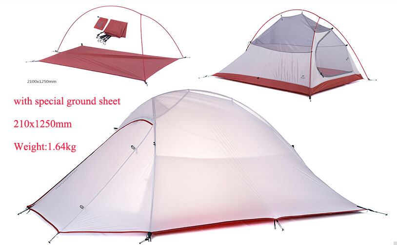 NH cloud still 2 Professional double bunk ultralight 20D silicone coated seasons outdoor tent camping with ground sheet(China (Mainland))