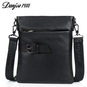 100% натуральная кожа креста тела первый слой натуральной ультра-тонких мужчины сумки мода DanJue деловые сумки