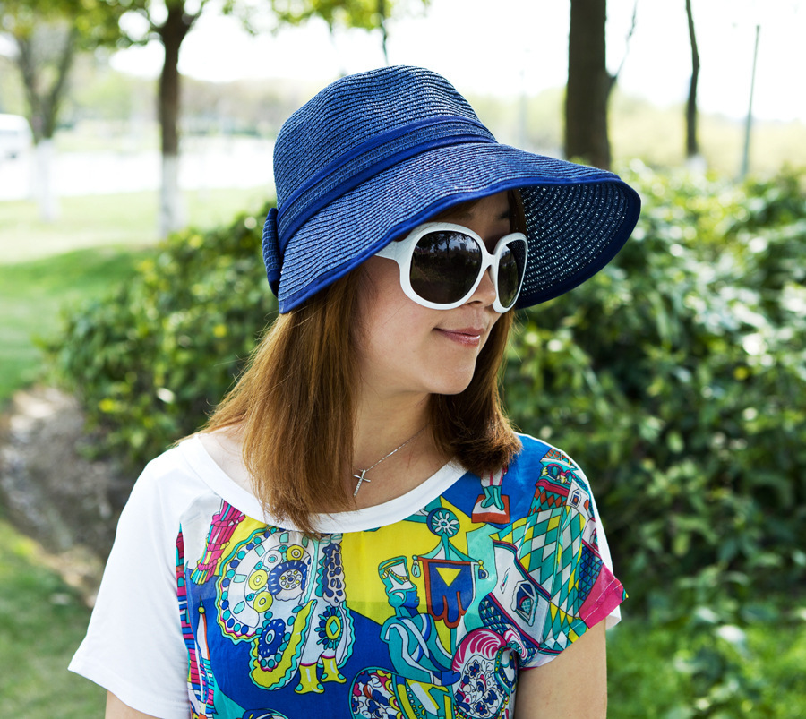 Spring, summer, hot new Ms straw big hat princess hat on sale Free Shipping(China (Mainland))