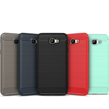 Buy For Samsung Galaxy J2 J3 J5 J7 2016 2017 Prime Case Silicone TPU Brushed Armor Bumper Shockproof Carbon Fiber Textured Cover for $3.15 in AliExpress store