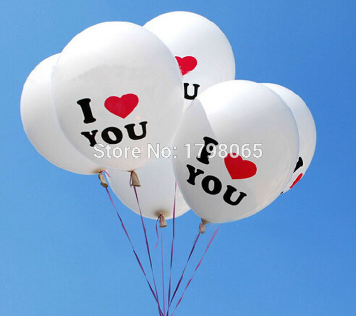 Free shipping 10PCS 30cm 12 inch BIG Pearl Latex Balloon While Color Christmas Wedding Party balloons I LOVE YOU words Proposal<br><br>Aliexpress