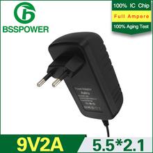2015 brand new 9v 2a 2000mA power adapter ac 100v-240v dc 5.5*2.1mm with EU plug(China (Mainland))