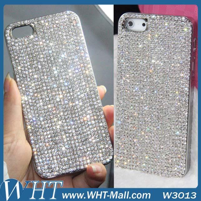 1 Piece Free Shipping For iPhone 6/6 Plus Luxury Diamond Rhinestone Cover Top Quality Diamond Bling Chrome Hard Case.DIY Case(China (Mainland))