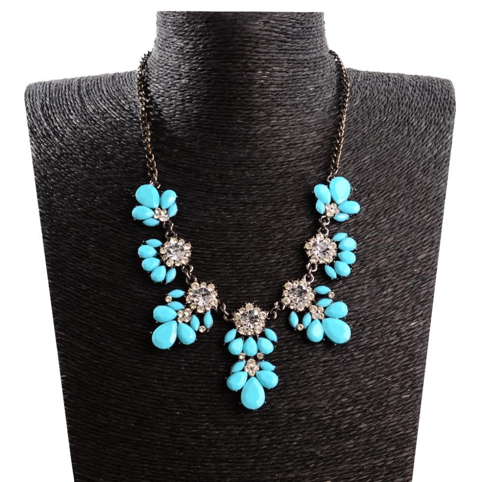 New Fashion Choker Rhinestone Necklace Female Statement Jewelry Fashion Necklace For Women 2015 Pendant Necklace 287(China (Mainland))