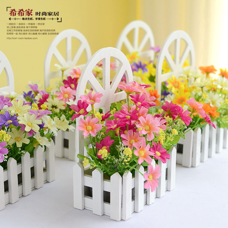 Buy wall fence kit pastoral artificial for Artificial flower for decoration
