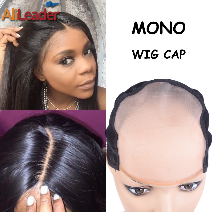 Can Last 1 Years Adjustable MONO Wig Cap For Making Wigs, Best Material Front MONO And Comfortable Jewish Nets For Wig Making