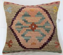 Kilim hand-woven wool pillow