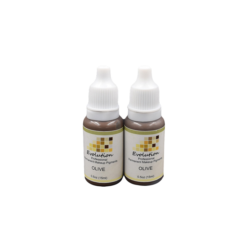 OLIVE Evelution plant extracts high intensity organic non-toxic MIX tattoo micro Pigment permanent makeup ink