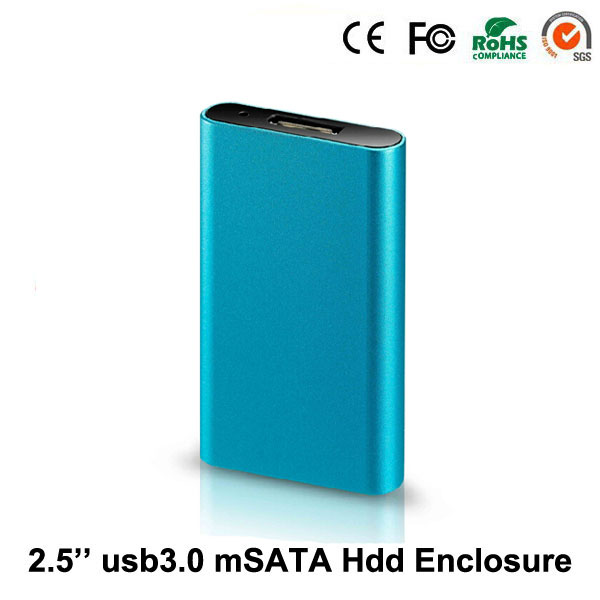 2016 new usb 3.0 to msata SSD HDD hard disk cases up to transfer rate 5GMbps solid hard disk drive caddy box(hdd isn't included)(China (Mainland))