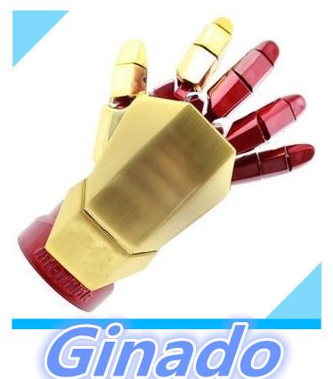 Free shipping 8GB 16GB 32GB 64GB usb flash drive pen drive Marvel Cartoon Iron man right hand left hand pendrive usb stick flash(China (Mainland))