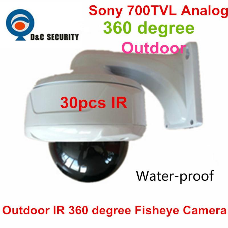 Super Panorama Fisheye Camera 700TVL Sony Effio CCD 360 Degree wide angle outdoor water-proof IP66 analog dome camera(China (Mainland))