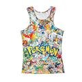 2016 NEW cartoon pokemon go Short sleeve O neck vest cosplay anime pokemon go plus summer