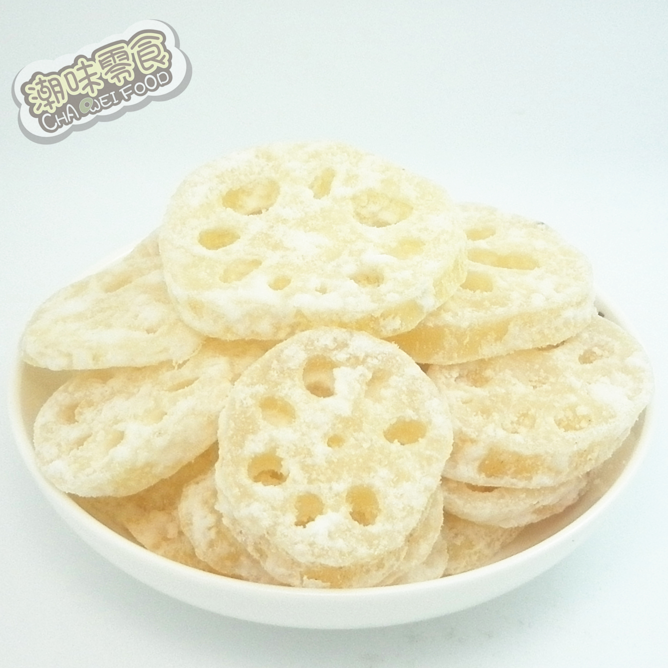 Lotus root sugar 188g 5 bags handmade candours lotus root slice snacks candours preserved fruit dried