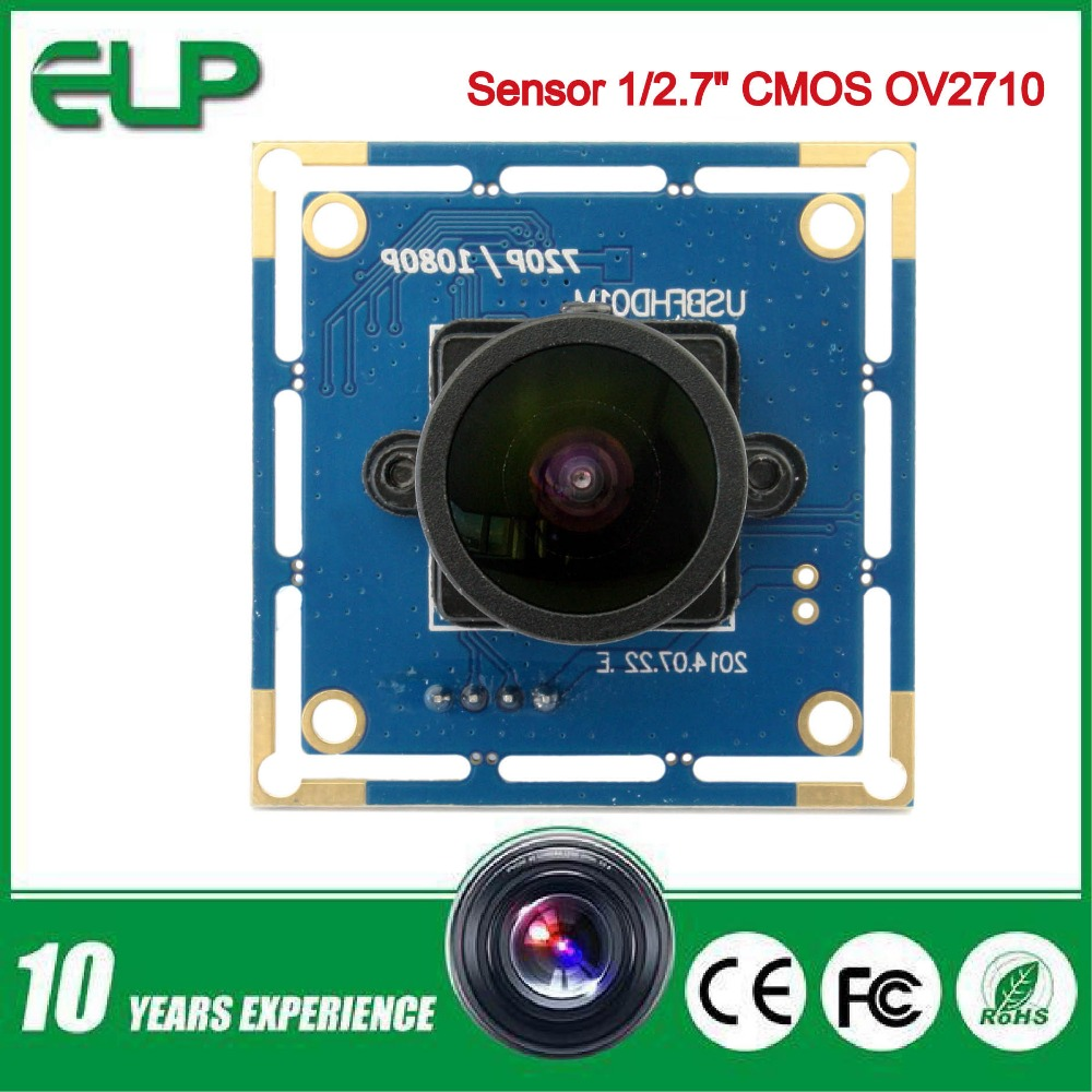 2.0 megapixel 1080p wide angle usb camera board with 170 degree fisheye lens