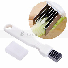 Free shipping ! Onion Vegetable Cutter slicer multi chopper Sharp Scallion Kitchen knife Shred Tools Slice Cutlery   301-0409(China (Mainland))