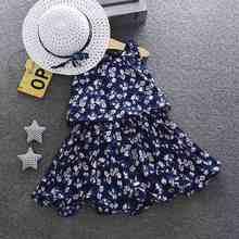 WEIXINBUY Mùa Hè công chúa váy Cotton bé cô gái thêu đào vest váy 1-4Y Chất Lượng Cao bé cô gái trẻ sơ sinh ăn mặc(China)
